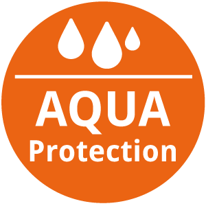 Aquaprotection: keine Eindringen von Feuchtigkeit, hochwertig verarbeitete Oberfläche mit tiefgezogenen Fronten