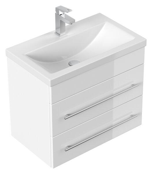 Waschplatz PORTUS 60cm weiß hochglanz (SlimLine)