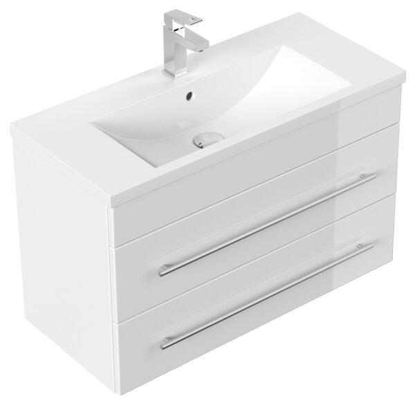 Waschplatz PORTUS 80cm weiß hochglanz (SlimLine)