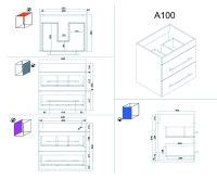 Waschplatz APOLLO 60cm weiß hochglanz