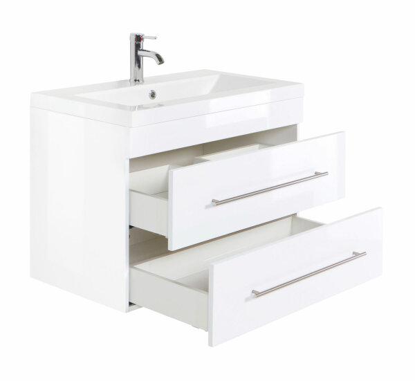 Waschplatz AURORA 86cm weiß hochglanz