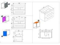 Waschplatz ARTEMIS 75,5cm anthrazit seidenglanz