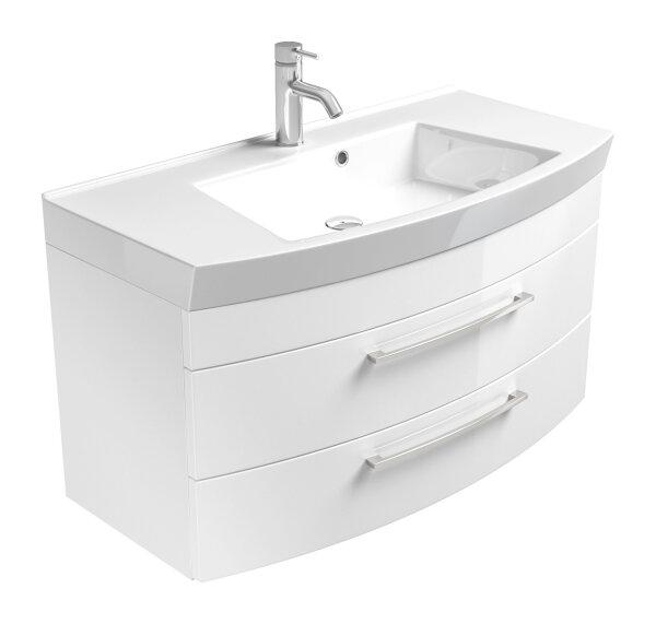 Waschplatz RIMA weiß 100cm mit Mineralgussbecken