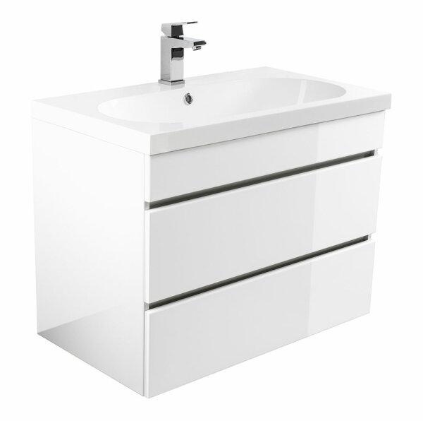 Waschplatz KALI 70cm weiß hochglanz