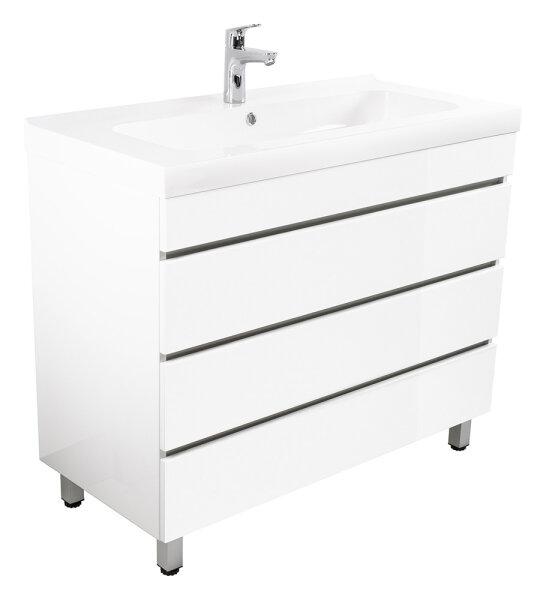 Waschplatz KALIS 90cm weiß hochglanz