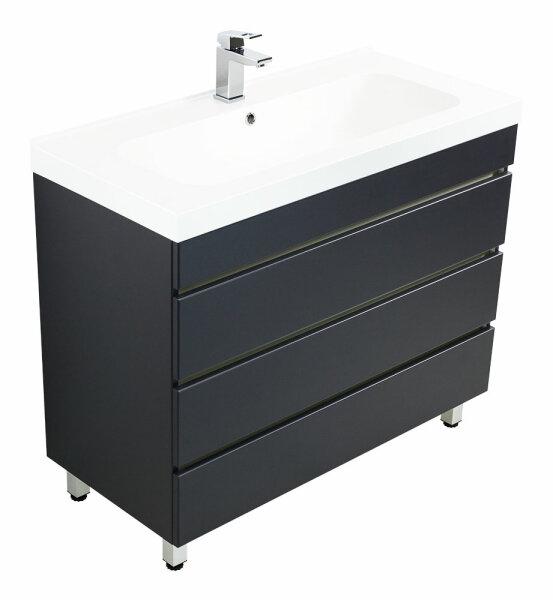Waschplatz KALIS 90cm anthrazit seidenglanz