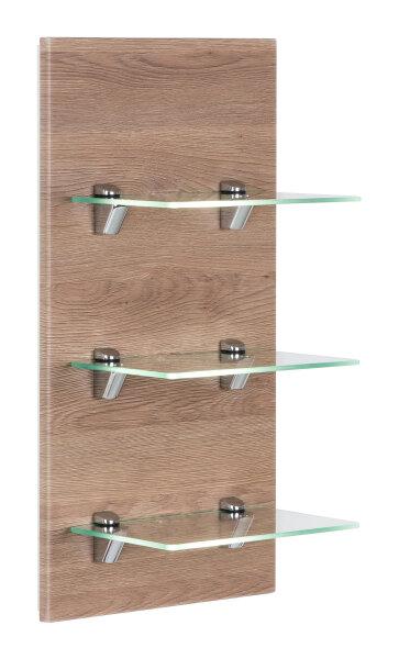 Wandregal VIVA Eiche-hell mit Glasböden