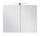 Spiegelschrank VIVA 75cm weiß mit LED-Beleuchtung