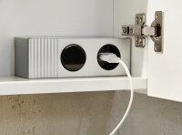 Spiegelschrank VIVA 100cm weiß mit LED-Beleuchtung
