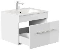 Waschplatz VIVA 61,5cm weiss hochglanz