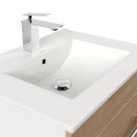 Waschplatz VIVA 61,5cm weiss/Eiche hell