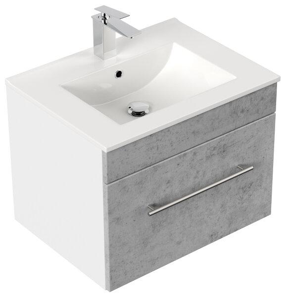 Waschplatz VIVA 61,5cm weiss/Beton-Optik