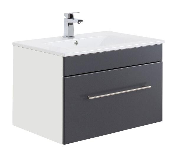 Waschplatz VIVA 75,5cm weiss/anthrazit seidenglanz