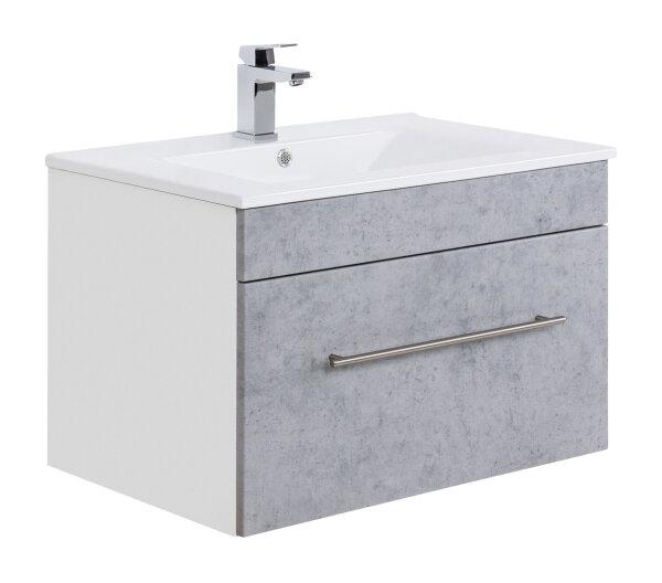 Waschplatz VIVA 75,5cm weiss/Beton-Optik