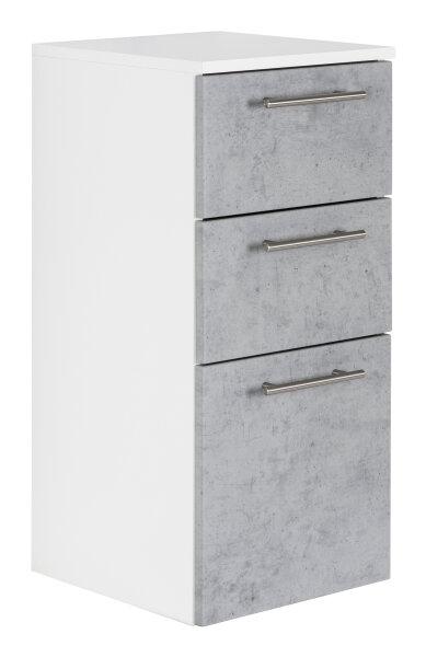 Midi-Hängeschrank VIVA weiss/Beton-Optik