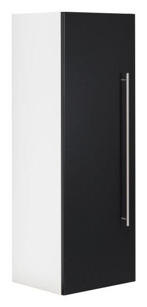 Midischrank VIVA 100cm weiss/schwarz seidenglanz
