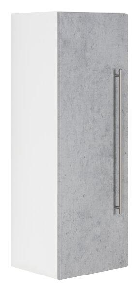Midischrank VIVA 100cm weiss/Beton-Optik