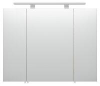 Spiegelschrank Eiche hell-Nb. 80cm mit LED-Beleuchtung
