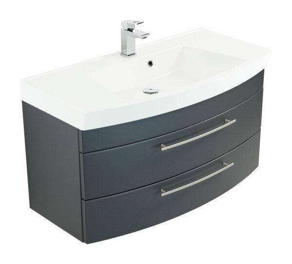 Waschplatz LUNA 100,5cm anthrazit seidenglanz