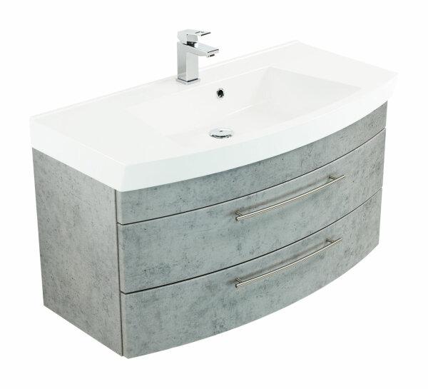 Waschplatz LUNA 100,5cm Beton-Optik