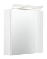 Spiegelschrank 60cm weiß Hochglanz mit Design...