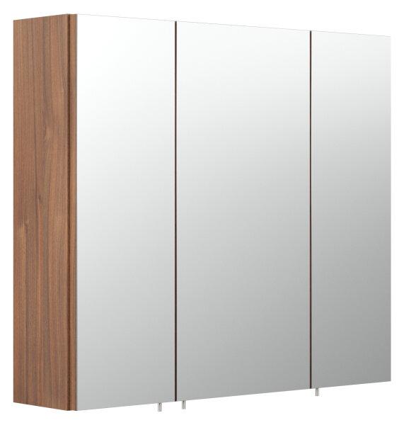Spiegelschrank Walnuss-Nb. 70cm