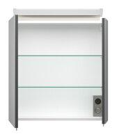 Spiegelschrank 60cm anthrazit seidenglanz mit Design...