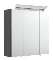 Spiegelschrank 70cm anthrazit seidenglanz mit Design...