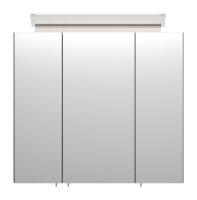 Spiegelschrank 70cm anthrazit seidenglanz mit Design LED-Lampe