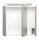 Spiegelschrank 70cm Eiche hell mit Design LED-Lampe