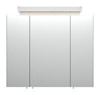 Spiegelschrank 75cm Beton-Optik mit Design LED-Lampe