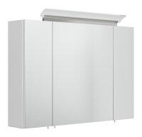 Spiegelschrank 90cm weiß hochglanz mit Design...