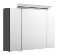 Spiegelschrank 90cm anthrazit seidenglanz mit Design...