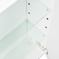 Spiegelschrank 90cm anthrazit seidenglanz mit Design LED-Lampe