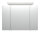 Spiegelschrank 90cm Beton-Optik mit Design LED-Lampe