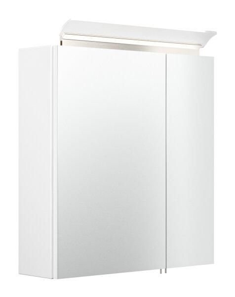 Spiegelschrank 60cm weiß hochglanz mit Design LED-Lampe