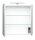 Spiegelschrank HOMELINE 60cm weiß Hochglanz mit LED-Beleuchtung