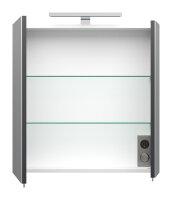 Spiegelschrank HOMELINE 60cm anthrazit seidenglanz mit LED-Beleuchtung