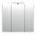 Spiegelschrank HOMELINE 70cm anthrazit seidenglanz mit LED-Beleuchtung