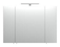 Spiegelschrank HOMELINE 90cm weiß Hochglanz mit LED-Beleuchtung