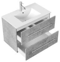 Waschplatz HOMELINE 81cm Beton-Optik