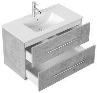 Waschplatz HOMELINE 91cm Beton-Optik