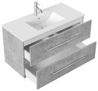 Waschplatz HOMELINE 101cm Beton-Optik