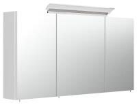 Spiegelschrank 120cm weiß hochglanz mit Design LED-Lampe