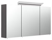 Spiegelschrank 120cm anthrazit seidenglanz mit Design...