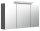 Spiegelschrank 120cm anthrazit seidenglanz mit Design LED-Lampe