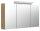 Spiegelschrank 120cm Eiche hell mit Design LED-Lampe