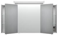 Spiegelschrank 120cm Beton-Optik mit Design LED-Lampe
