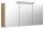 Spiegelschrank 140cm Eiche hell mit Design LED-Lampe