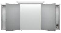Spiegelschrank 140cm Beton-Optik mit Design LED-Lampe